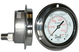 PFP Premium Stainless Steel Liquid Filled Pressure Gauge for Panel Mounting